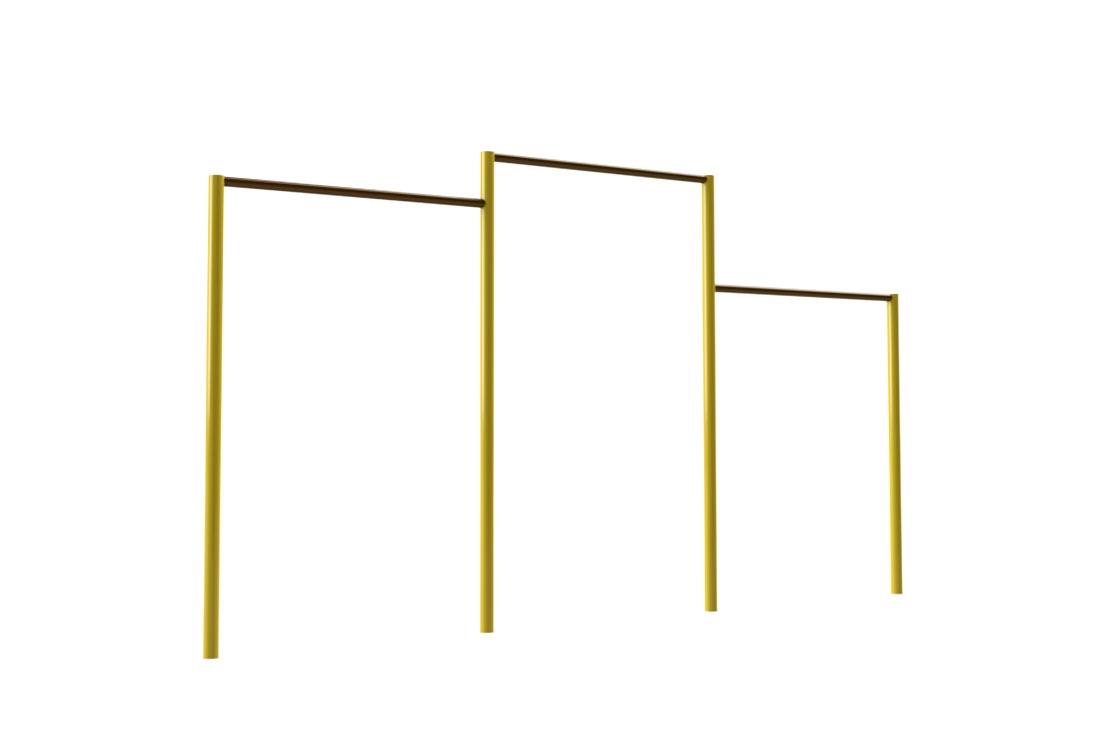 Gal 36 barra de gimnasia triple altura optimus juegos - Mobiliario de gimnasio ...